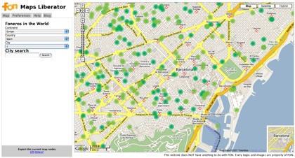 Fon Maps Liberator, exporta a los foneros a tu GPS