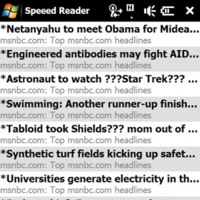 Speed Reader, cliente móvil para Google Reader