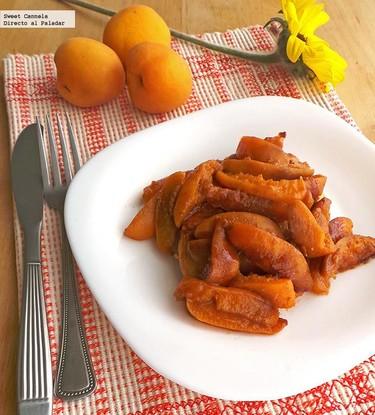 Pechugas de pollo con chabacanos a la canela. Receta