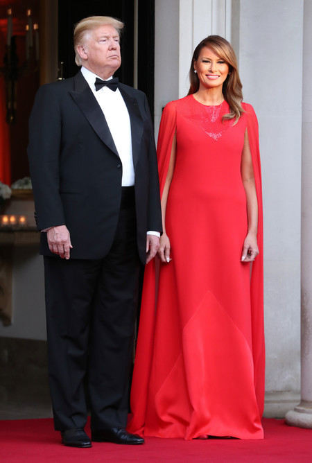 Melania Trump J Mendel Rojo