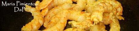 Ensalada templada de gambón con queso