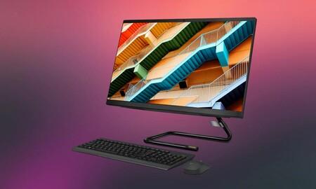 Lenovo AIO3 24ARE05: un polivalente todo en uno de diseño que lleva descuento directo de 50 euros en MediaMarkt. Lo puedes estrenar por 549 euros