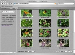 iPhotoWebShare: Comparte tus librerías de iPhoto en Internet