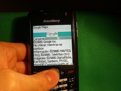 Revisión de Google Maps en una BlackBerry Pearl