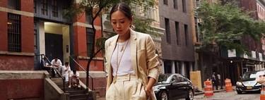 El street style ya lo predijo: así llevaremos los trajes pantalón cortos cuando volvamos a la oficina