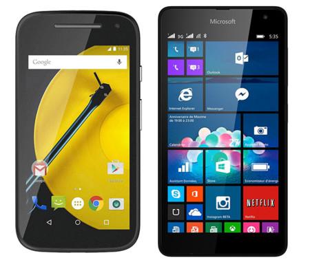 Moto E Lumia 535