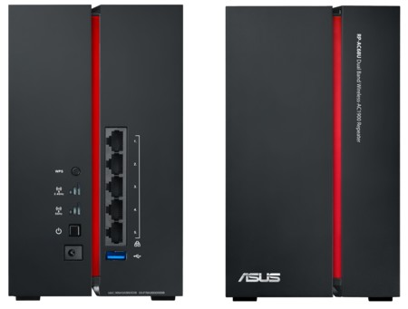 Asus Rp Ac68u Dual Band Wireless Ac1900 Repeater Back