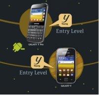 Samsung Galaxy Y y Samsung Galaxy Y Pro, los Galaxy juveniles de gama baja