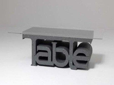 Palabras que sostienen mesas