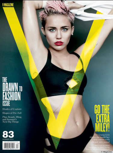 ¡Vaya carrerón revistero! Ahora Miley Cyrus, por triplicado, en V Magazine