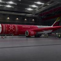 """¿Tienes frío? Los aviones también: Iberia """"abriga"""" a uno de sus aviones en un original vídeo"""