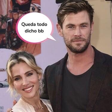 La tierna (y muy escueta) felicitación de Chris Hemsworth a Elsa Pataky por su 45 cumpleaños: hasta un tuit se le queda grande