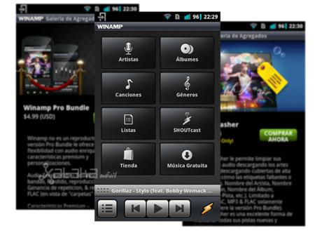 Winamp para Android se actualiza con tienda propia en su versión 1.3