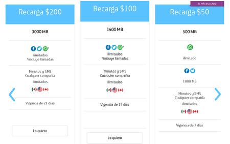 Movistar Mexico Redes Sociales Ilimitadas Prepago