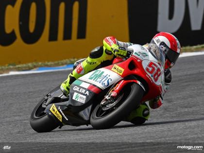 Simoncelli pole, Bautista segundo en 250 cc