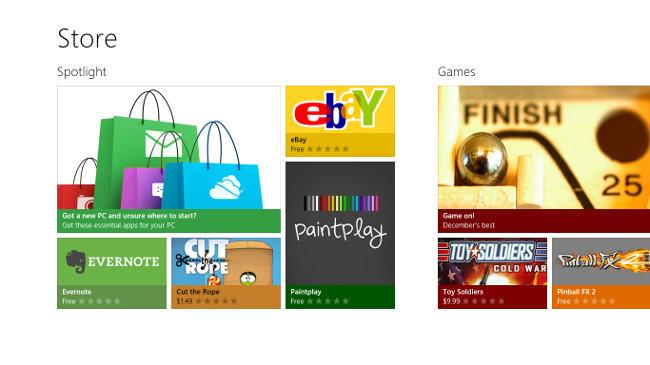 Portada de Windows Store