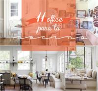 11 ideas para crear un office en tu cocina