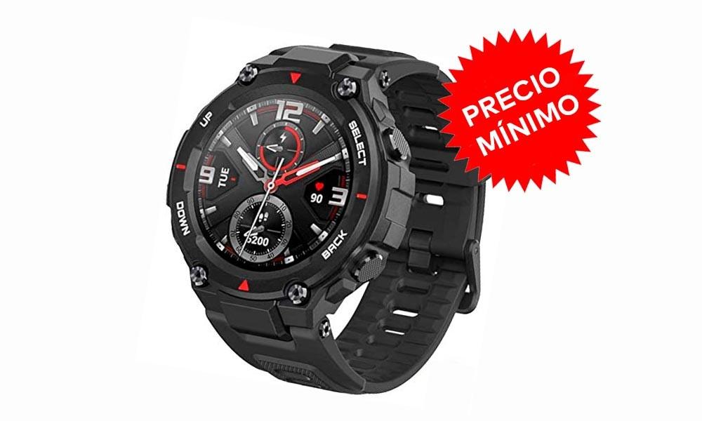 Precio mínimo en Amazon para el Amazfit T-Rex. Un reloj inteligente a prueba de bombas por sólo 119 euros