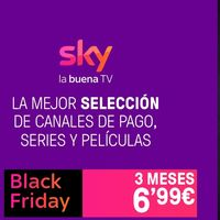 Black Friday de Sky España: películas y series en streaming durante 3 meses por 6,99 euros y, si no tienes Smart TV, una TV Box gratis