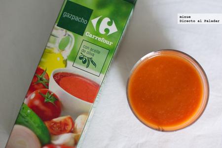 Comparativa gazpachos de marca blanca - carrefour
