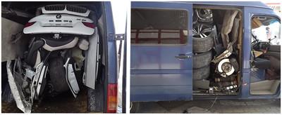 Cazada en Hungría una furgoneta con el despiece de un BMW X6 robado en Italia