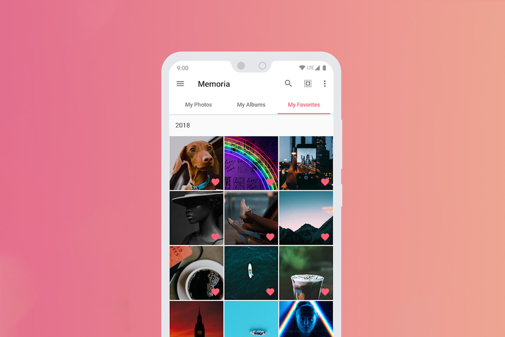Memory, an app gallery simple and beautiful focusing on your favorite photos