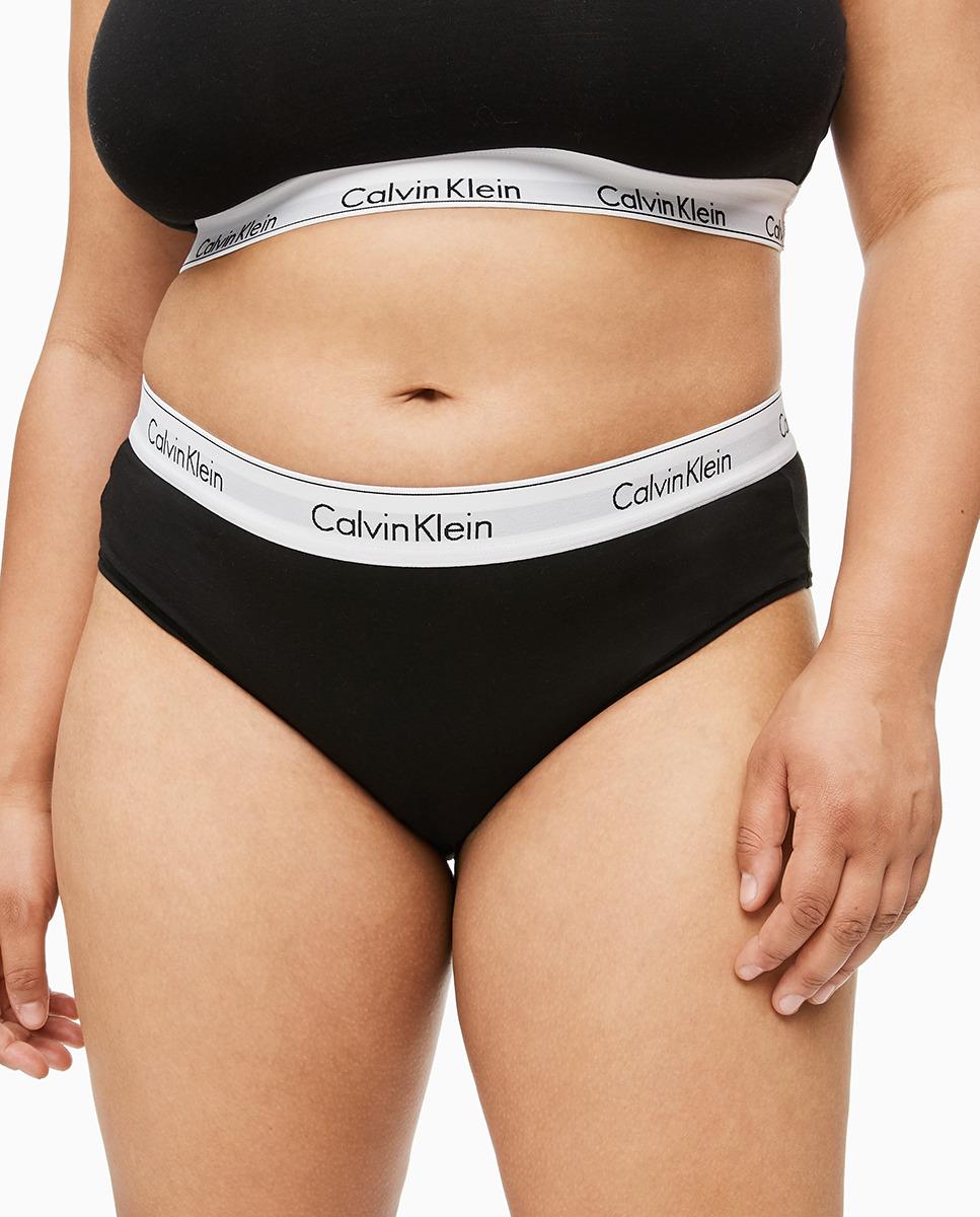 Culotte en liso con logo de Calvin Klein