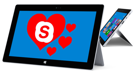 ¿Separado de tu pareja en San Valentín? Descarga Skype en tu Tablet