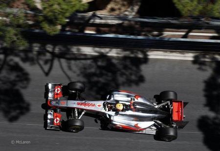 Lewis Hamilton en el GP de Mónaco de F1 2011