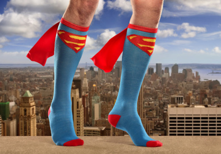 Los calcetines de Superman