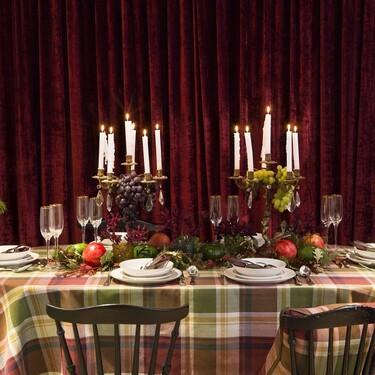 Mesas y accesorios a todo color (y con cuadros) en la primera colección de Navidad de Gancedo