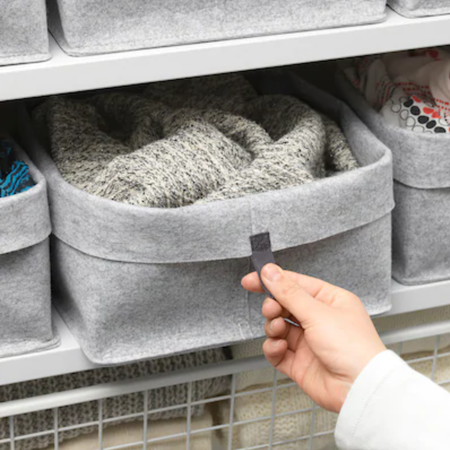 Caja para almacenaje de ropa