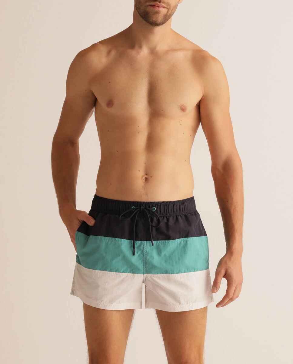 Bañador bermuda de hombre multicolor