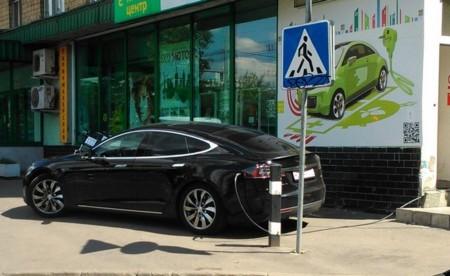 Tesla Rusia Punto Recarga