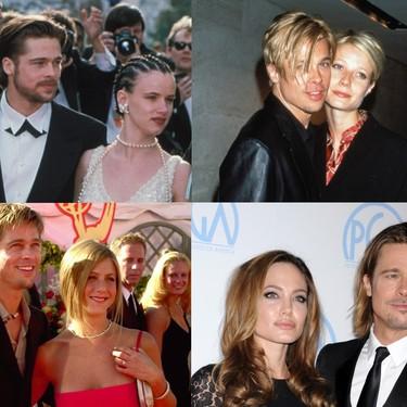 No te lo vas a creer: Brad Pitt lleva toda la vida convirtiéndose en un clon de sus novias (y podemos demostrarlo)