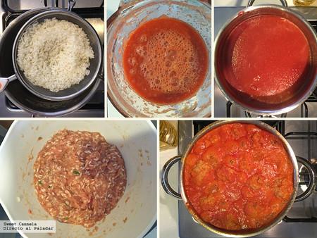 Albondigas Pollo en salsa de Chipotle