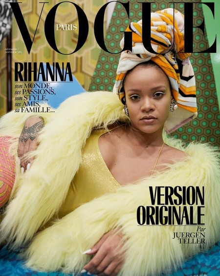 Rihanna Vogue Paris December 2017 January 2018 Cover
