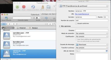 Cyberduck, un sencillo cliente FTP