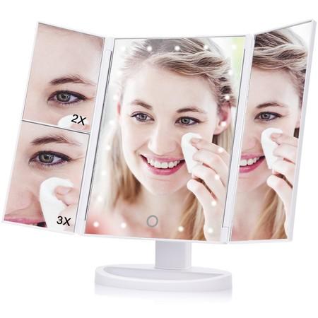 Cupón de 9 euros de descuento en el espejo de maquillaje con luces LED Haofy: aplicándolo cuesta 14,99 euros en Amazon