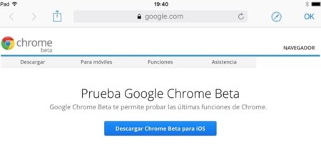 Google lanza el canal beta de Chrome en iOS