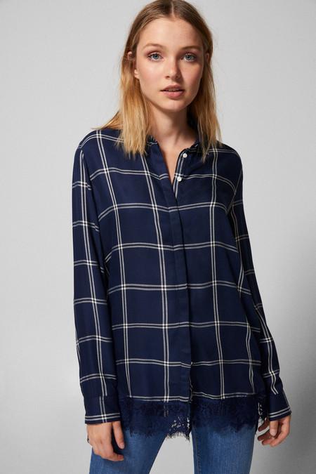 Camisa Azul De Cuadros Sringfield