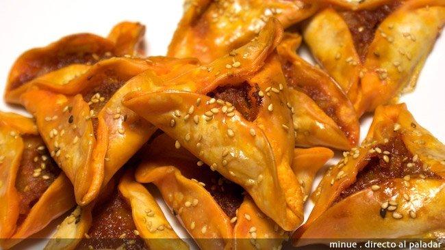 Empanadilla de sobrasada y miel - presentación