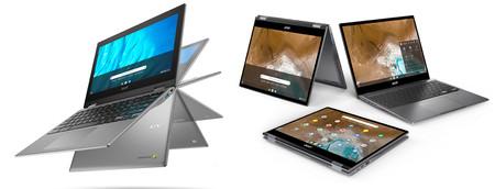 Acer Chromebook Spin 713 y Spin 311: nuevos convertibles con Chrome OS para empresas y estudiantes
