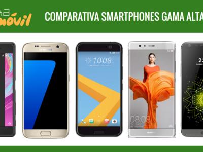 Los teléfonos más potentes e innovadores: Comparativa smartphones gama alta 2016
