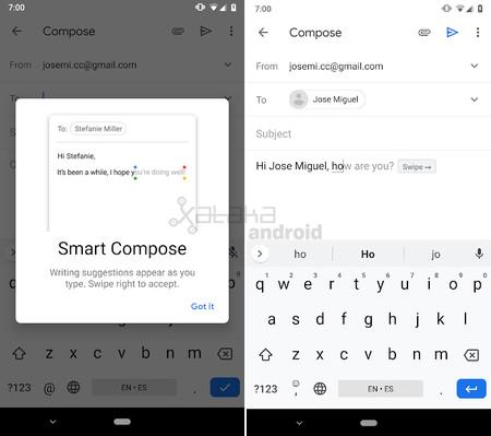 Smart Compose Gmail