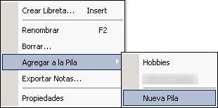 Evernote 4.1: Crear nueva pila
