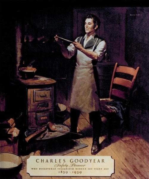 Large Charles Goodyear 1839