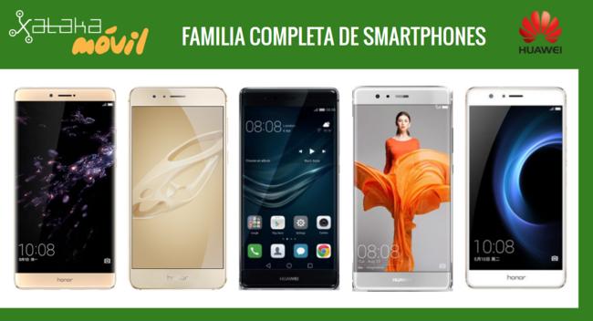Así queda el catálogo de móviles Huawei tras la llegada de los nuevos Huawei Nova y Nova Plus