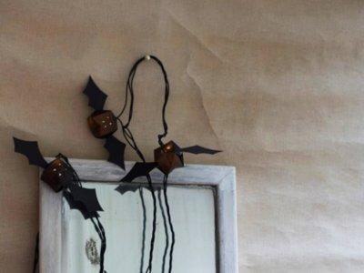 Hazlo tú mismo: guirnaldas de luz murciélago para Halloween
