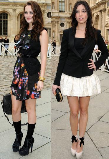 Los looks de Leighton Meester, Daisy Lowe, Camilla Belle y Freida Pinto en el front row de Louis Vuitton